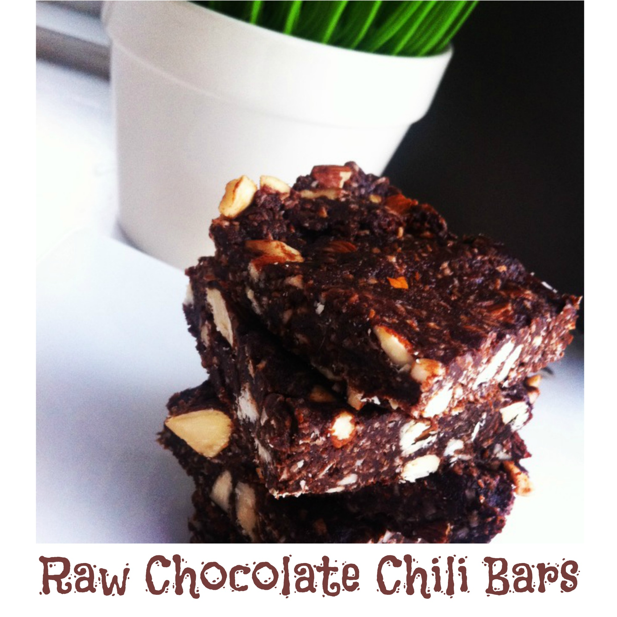 raw chocolate chili bars